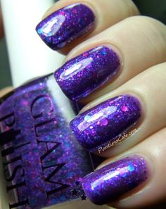 Glam Polish - Nite Sprite and Indigo - Swatches and Review | Pointless Cafe