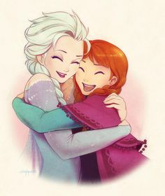 Elsa and Anna. #Frozen