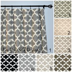 Items similar to Moroccan Curtain Panels, Set of 2 Drapes, Neutral Fynn Quatrefoil,Trellis Premier Prints - or wide - You choose color and length on Etsy Moroccan Curtains, Panel Curtains, Curtain Panels, Premier Prints, Quatrefoil, Trellis, Handmade Gifts, Etsy, Bathroom