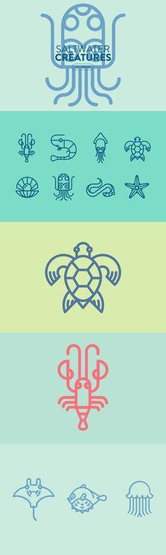 Saltwater Creatures - Graphics - YouWorkForThem
