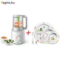 Ez a pároló és turmixgép hatalmas segítségedre válik a konyhába babád ételének elkészítéséhez. Az Avent készülék ideális az egészséges bébiételek otthoni elkészítéséhez. Először párolja a gyümölcsöt, zöldséget, halat vagy húst, majd egyszerűen fordítsa meg az edényt és azonnal turmixolhat. Használatával megalapozhatja az egészséges étkezési szokásokat.    Jellemzői:  - Kiváló minőségű termék  - Tartalma: 1 db kombinált pároló és turmix, 1 db mérőedény és lapát, 1 db receptfüzet (angol… Kettle, Kitchen Appliances, Advent, Diy Kitchen Appliances, Tea Pot, Home Appliances, Boiler, Kitchen Gadgets