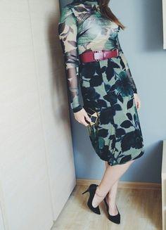 Kup mój przedmiot na #vintedpl http://www.vinted.pl/damska-odziez/dlugie-sukienki/9884792-komplet-bluzka-sukienka-moro-podkresla-figure-bodycon