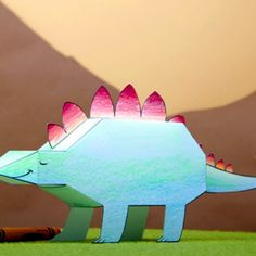 My Pet Stegosaurus by spoonful: Free printable to download, cut, color and fold! #Crafts #Kids #Dinosaur