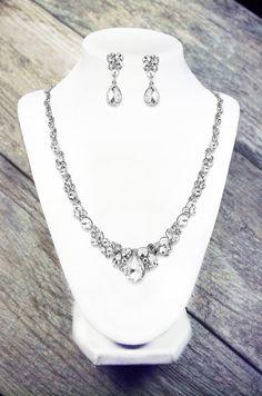Bridal Necklace Set Crystal Wedding Necklace by LordandGreyBridal