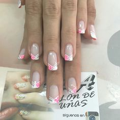 Manicure Nail Designs, French Manicure Nails, Fingernail Designs, French Tip Nails, Pedicure Nails, French Nail Designs, White Nail Designs, Nail Art Designs, Cute Nails