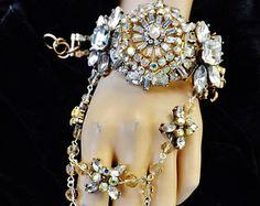 Great Gatsby Flapper Aurora Borealis Crystal Clear by Arabescque