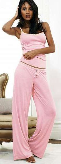 Victoria's Secret - The Cami Pajama, very CUTE & they look so COMFY COZY!  I think i'd have a hard time getting out of bed!
