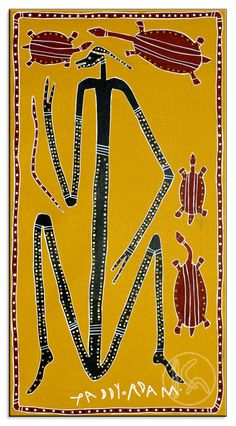 Dancing Mimi with Long Neck Turtles by Paddy Fordham Wainburranga