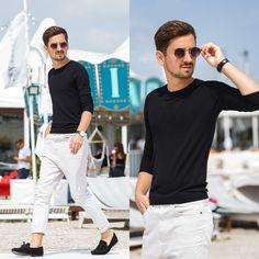 Blog post: http://themysteriousgirl.ro/ro/2015/08/beach-carnival/  Instagram: https://instagram.com/adriansunriseinc  black tassel loafers beige tapered jeans sweater blouse zara round sunglasses rounded