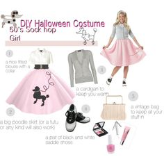 DIY Halloween Costume: 50's Sock Hop Girl!