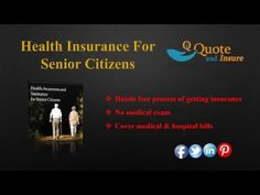 Looking for cheap senior health insurance quote? Find out affordable senior health insurance quote at the lowest premium rate. Request A Free Quote Today! https://www.youtube.com/watch?v=jvYFD2qlV0U&feature=youtu.be