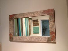 Mirror with decoupage