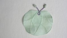 모시연잎받침 /  옥색