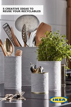Upcycle your recyclables by turning them into stylish home storage. Plastic containers, metal cans, shoe boxes, glass jars and corks can have new lives. You just need a little paint, glue, screws and creativity! Check out IKEA ideas to get you started. Interior design by Geneviève Jorn. Photography by Kimme Persson. Writing by Marissa Frayer.
