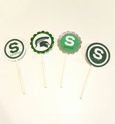 Check out this item in my Etsy shop https://www.etsy.com/listing/472687801/12-msu-sports-cupcakecake-pop