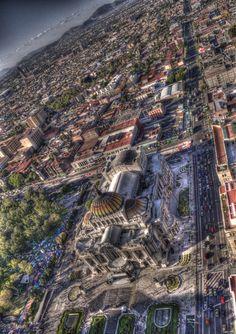 Palacio de Bellas Artes, Mexico City ~ viewed from the Torre Lationamericana