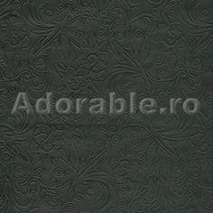 Vinilin negru embosat