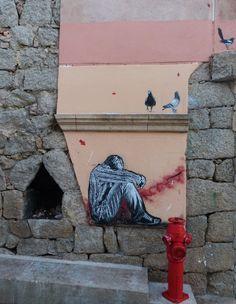 """Jef Aerosol : """"teenager"""" (, Porto-Vecchio, Corsica), July 2012"""