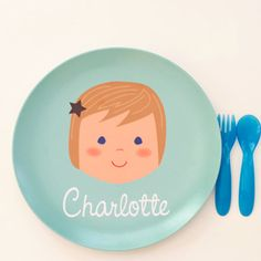 personalized plates and bowls Kids Plates, Plates And Bowls, Cute Gifts, Unique Gifts, Personalized Plates, Toddler Gifts, Toddler Stuff, Teller, Baby Love