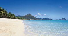 la plage très longues et très belles de Flic en Flac à l'île Maurice, j'en rêve encore.