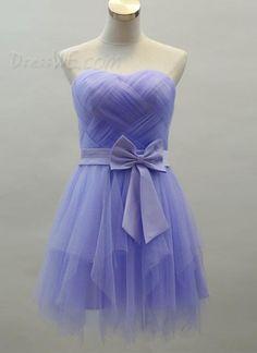 Sweet Strapless Bowknot Zipper-Up A-Line Short Homecoming Dress