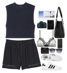 """Untitled #2715"" by wtf-towear ❤ liked on Polyvore featuring Rebecca Taylor, ADAM, adidas, Acne Studios, Ray-Ban, Only Hearts, Black Apple, Mulberry, Canon and women's clothing"