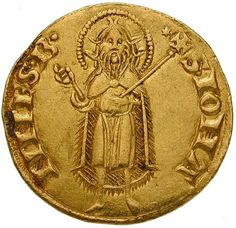 The Florin is the most famous gold coin of the Middle Ages & may well have been used to pay Michelangelo for his famous statue of David. The Crusades promoted trade with the eastern Mediterranean, which brought enough gold into the flourishing trading city of Florence to enable it to start minting its own gold currency (1252). The reverse appears St John the Baptist, the patron saint of the city, in which not only trade and the money economy, but also the arts flourished as nowhere else.