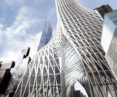 The Edgar Street Towers Feature Bio-Filtration #spiral #architecture trendhunter.com