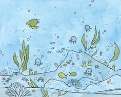 under the sea drawing - studio tuesday