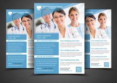 Health & Medical Doctors Flyer Templ by AfzaalGraphics on @creativemarket