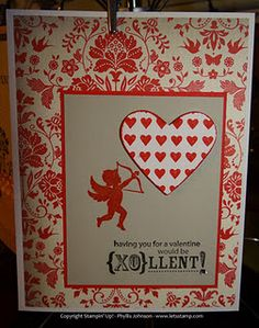 Valentine's Card made with the P.S. I Love You from the Occasions Mini Catalog