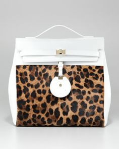 V1PNY Jason Wu Jourdan Leopard-Print Backpack Bag
