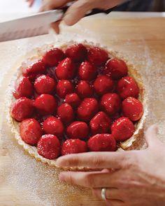 Strawberry Tart with Cream - Mmmm!