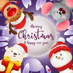Merry Christmas Vector, Merry Christmas Greetings, Christmas Greeting Cards, Christmas Art, Christmas Ornaments, Reno, Merry And Bright, Polar Bear, Snowman