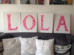 Button letters on canvas! So easy and fun to do!