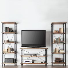 TRIBECCA HOME Myra Vintage Industrial Modern Rustic Bookcase | Overstock.com Shopping - The Best Deals on Media/Bookshelves