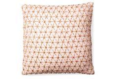 Ombré Lace 17x17 Linen Pillow, Coral | Modern Romance | One Kings Lane
