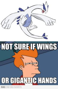 This crossed my mind when I first saw Lugia in Pokemon