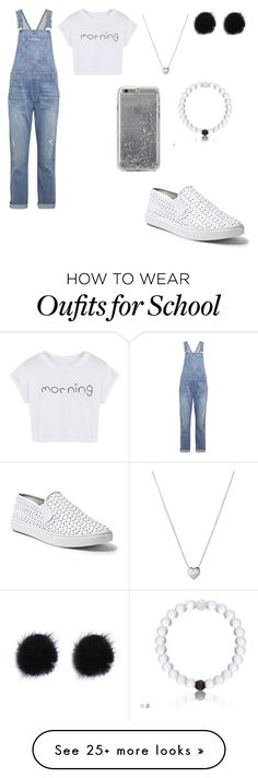 """HIGH SCHOOL JUMPSUIT STYLES"" by mgarcia-iii on Polyvore featuring Current/Elliott, Steve Madden, Links of London, Agent 18 and WithChic"