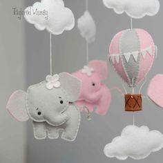 Elephant Mobile Hot Air Balloon Mobile Custom Mobile not