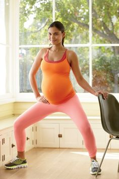 1.Plié - 5 Simple Pregnancy Exercises for Every Trimester - Fit Pregnancy - Page 2