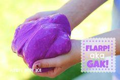 Homemade Flarp! aka Gak on Mandy's Recipe Box.