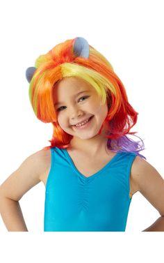 My Little Pony Rainbow Dash -peruukki. Nyt pikkutyttöjen suosikki My Little Pony sarjaan myös pastellin sävyiset peruukit.