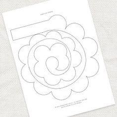 DIY paper rose template  idoityourself.com.au by renee