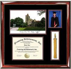 University of Illinois Urbana Champaign UIUC Lithograph Diploma Frame with Graduation Tassel Box and 4 x 6 photo window - Premium Wood Glossy Prestige Mahogany with Gold Accents - Double-matted Top Black Inner Maroon Graduation Tassel, College Graduation, Banner Doodle, Graduation Scrapbook, Photo Window, Diploma Frame, Shadow Box, Diy Gifts