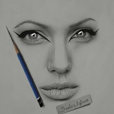 Pencil Portrait Repost from ・・・ My Drawing. Pencil✒ on Fabriano paper ,I hope to like it! Pencil Portrait Drawing, Realistic Pencil Drawings, Pencil Art Drawings, Portrait Art, Drawing Faces, Girl Drawing Sketches, Sketch Painting, Gif Kunst, Art Visage