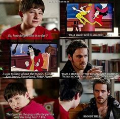 My eyes are welling up with emotions at the idea of Henry and Hook watching TV together the precious things
