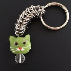 Cat Lover Chainmaille Key Chain