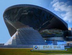 Visit a futuristic BMW museum. BMW Welt - Double Coon by Claude@Munich, via Flickr