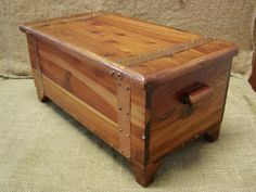VINTAGE Cedar Chest 250.00 e-bay It says miniature, but mine is a full size Cedar chest! Did not give dimensions...